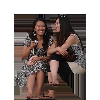 Imagenatives 0010 girls sitting cutout