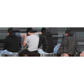 Imagenatives 0016 group sitting cutout